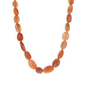 Peach Moonstone Necklace in Sterling Silver 117.98cts