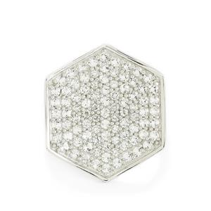 2.25ct White Topaz Sterling Silver Ring