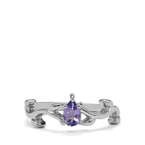 0.38ct Tanzanite Sterling Silver Ring