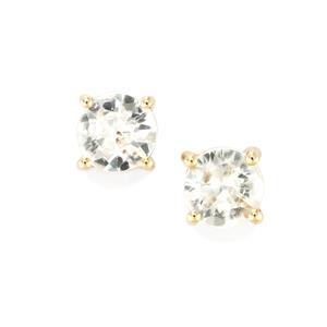 Singida Tanzanian Zircon Earrings in 10K Gold 1.34cts