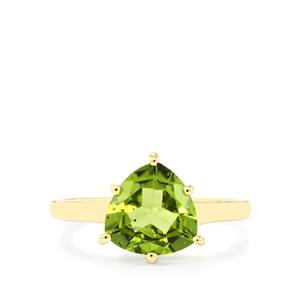 Changbai Peridot Ring in 10k Gold 2.12cts