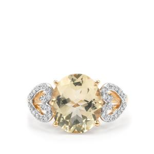 Serenite Ring with Diamond in 18K Gold 4.30cts