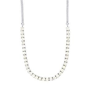 Singida Tanzanian Zircon Necklace in Sterling Silver 24.28cts