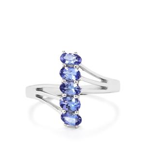 Tanzanite Ring in Sterling Silver 1ct