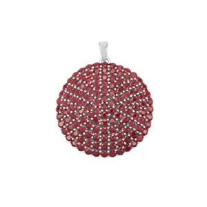 Malagasy Ruby Pendant in Sterling Silver 23.22cts (F)