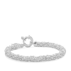 """7"""" Sterling Silver Altro byzantine Bracelet 10.05g"""