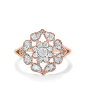 'Lausanne' 1/2ct First Class Diamond Ring 9K Rose Gold