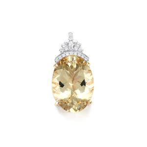 Serenite Pendant with Diamond in 18k Gold 9.91cts