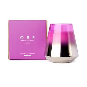Ore February Birthstone Candle, lilac fragrance with Amethyst ATGW 10cts
