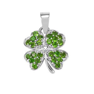 Chrome Diopside Pendant in Sterling Silver 1ct