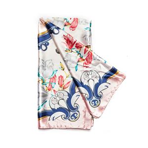 Destello Floral & Butterfly Print Scarf - Ivory & Blush Pink