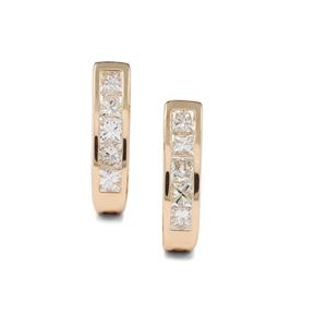 Natural Fancy Diamond Earrings  in 18K Gold 1.97ct