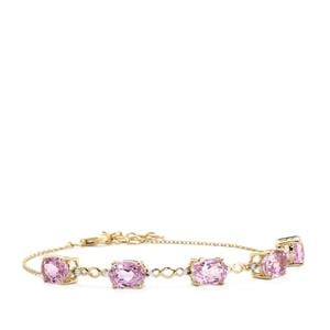 Mawi Kunzite Bracelet with Diamond in 9K Gold 8.74cts