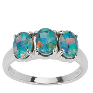 Mosaic Opal Ring in Sterling Silver (7x5mm)