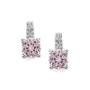 Rose du Maroc Amethyst Earrings with White Topaz in Sterling Silver 0.89cts