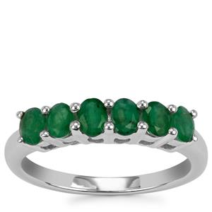 Carnaiba Brazilian Emerald Ring in Sterling Silver 0.93cts