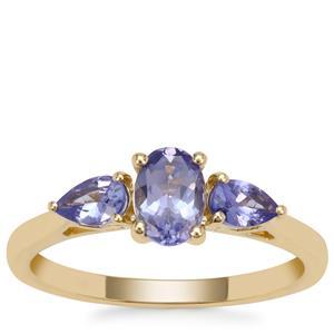 AA Tanzanite Ring in 9K Gold 0.98ct