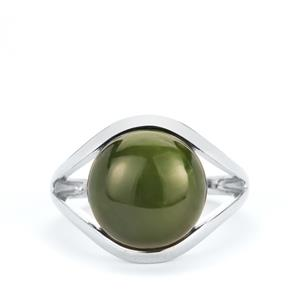 Canadian Nephrite Jade Ring in Sterling Silver 7.85cts