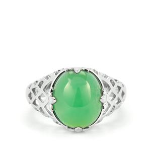 Szklary Chrysoprase Ring in Sterling Silver 4.96cts
