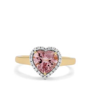 Cherry Blossom™ Morganite & Diamond 18K Gold Ring MTGW 1.90cts