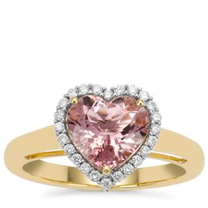 Cherry Blossom™ Morganite Ring with Diamond in 18K Gold 1.90cts