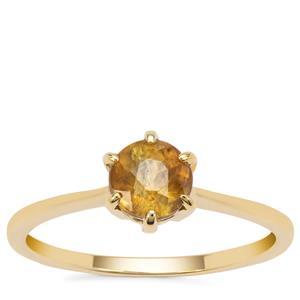 Ambilobe Sphene Ring in 9K Gold 1.02cts