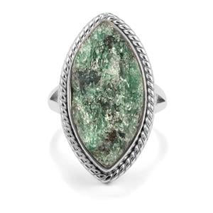 13ct Fuchsite Drusy Sterling Silver Aryonna Ring