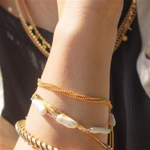 """10"""" Midas Altro Multi Strand Slider Bracelet 3.29g"""