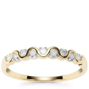 Diamond Ring in 9k Gold 0.15ct