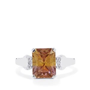 Anahi Ametrine Ring with White Zircon in Sterling Silver 3.16cts