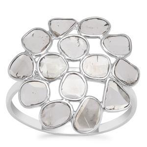 Polki Diamond Ring in Sterling Silver 1.05cts