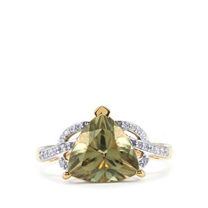 Csarite® Ring with Diamond in 18k Gold 3.93cts