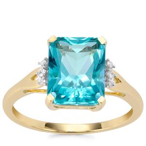 Batalha Topaz Ring with Diamond in 9K Gold 3.83cts