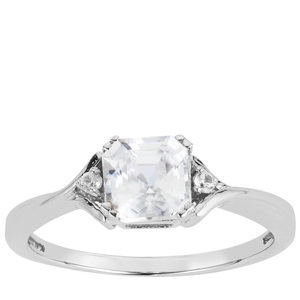 1.59ct Asscher Cut Ratanakiri Zircon Sterling Silver Ring