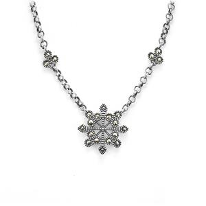 Natural Marcasite Sterling Silver Jewels of Valais Necklace ATGW 0.35ct