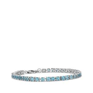 Swiss Blue Topaz Bracelet in Sterling Silver 9.62cts