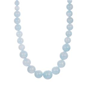 Aquamarine Graduated Necklace in Sterling Silver 154.20cts