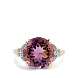 Anahi Ametrine Ring with Diamond in 9K Gold 5.47cts