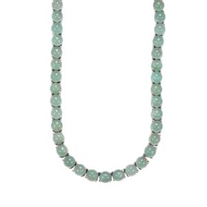 90.92ct Aquaprase™ Sterling Silver Necklace