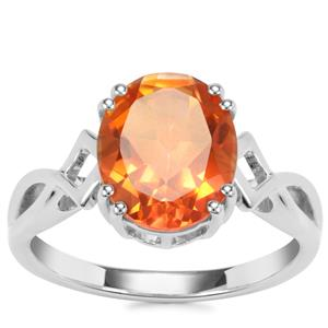Padparadscha Colour Quartz Ring in Sterling Silver 3.23cts