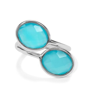 7ct Aqua Chalcedony Sterling Silver Aryonna Ring