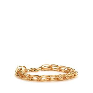 """7.5"""" 9K Gold Altro Double Belcher Cage Bracelet 6.00g"""