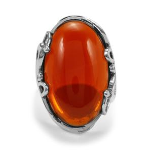 American Fire Opal Ring in Sterling Silver 16.58cts
