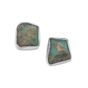 Sleeping Beauty Turquoise Earrings in Sterling Silver 7.04cts