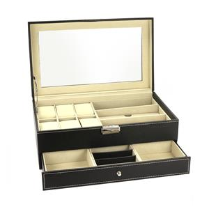 Jewellery Watch Sunglasses Double Layer Storage Box