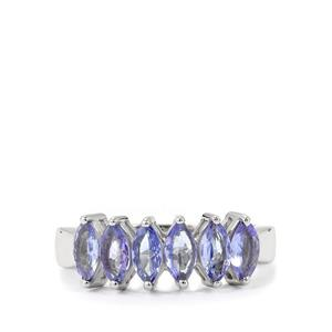 1.35ct Tanzanite Sterling Silver Ring