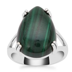 Malachite Ring in Sterling Silver 11.65cts
