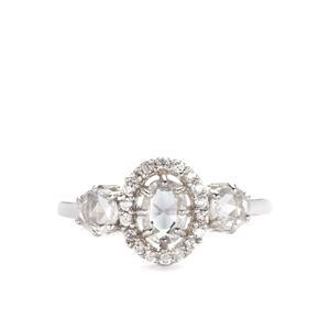 1.53ct Rose Cut Ratanakiri Zircon Sterling Silver Ring