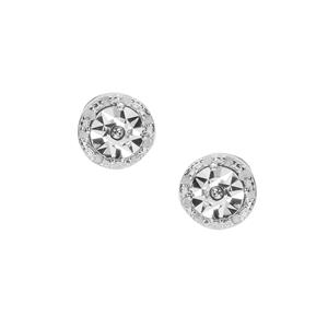 Diamond Earrings  in Sterling Silver 0.1ct