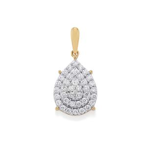 1/2ct Diamond 18K Gold Tomas Rae Pendant